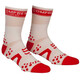 Compressport Racing V2 Bike High Socks White/Red